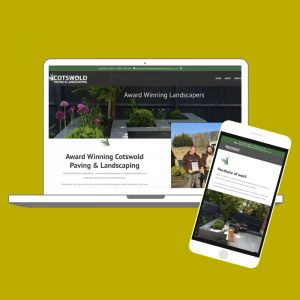 cotswold paving and landscaping client digital design website build
